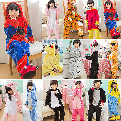 Kids Boy Girl Pyjamas Pokemon Pikachu Spiderman Cosplay Costume Onesie Sleepwear