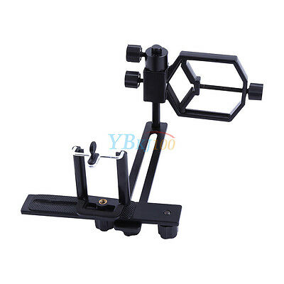 Universal Spotting Scope Telescope Strong Metal Mount Camera Cell Phone Adapter