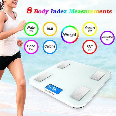 Bluetooth Electronic Smart Weight Scale Body Fat Monitor Composition IOS Android