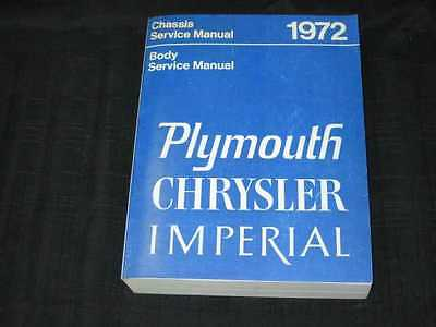 1972 Chrysler /Imperial/Plymouth Shop Manual REPRO
