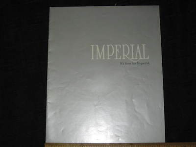 1981 Chrysler Imperial Catalog Sales Brochure CDN