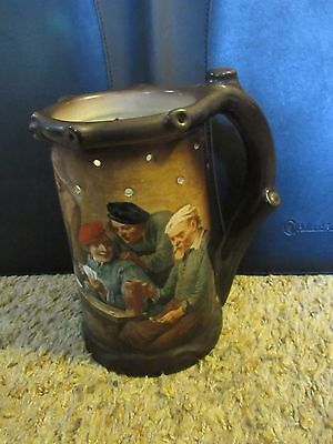 Puzzle Stein Mug  German Men playing cards in a pub Nude Lithopane RPM