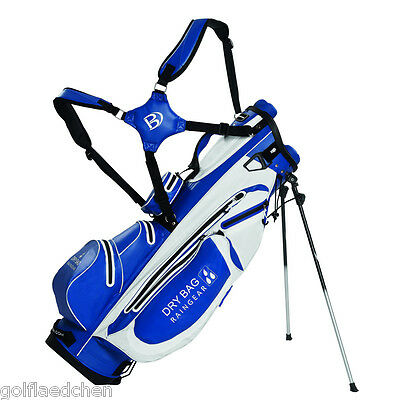 Bennington LQO Waterproof Standbag / Golfbag 2016 - Royal/White - NEU - UVP 390€
