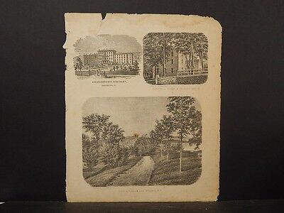 New York, Otsego County Map, 1868 Engravings, Cooperstown, Gilbertsville N4#59