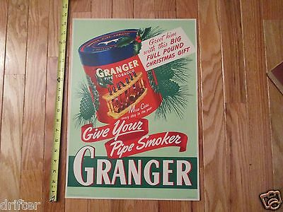Granger Pipe Tobacco Liggett Myers Store Advertising Sign display