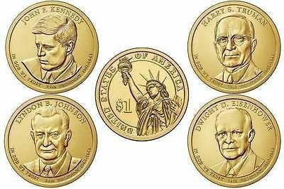 all 4 US Presential 1 Dollar Coins 2015 (D or P Mint) * bankfresh/uncirculated *