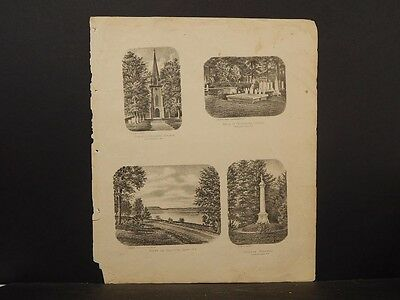 New York, Otsego County Map, 1868 Engravings, Cooperstown, Schuyler Lake N4#61