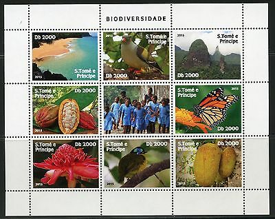 Sao Tome 2016 Biodiversity Set Of Two Sheets Of Nine Mint Nh
