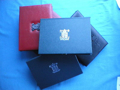 Official Royal Mint Blue Red Or Black Empty Proof Set Coin Case Holders
