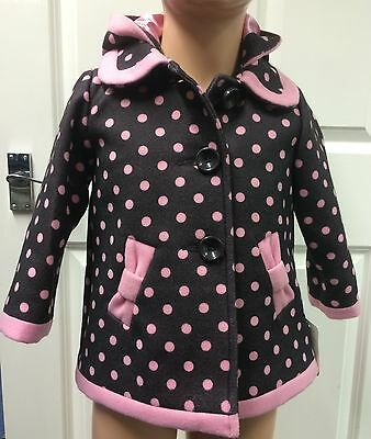 Mothercare pink polka dot coat up to 86cms 12-18 months