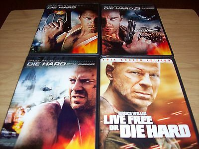 Lot Of 4 Die Hard Dvd Movies!! 1-4!! Used & In Excellent Condition!!!