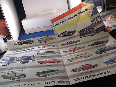 Studebaker  1956 fold out line brochure