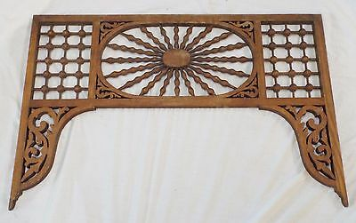 Old Antique Carved Oak GINGERBREAD FRETWORK Decorative