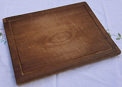 Vintage Rectangular Shabby  Bread Board With Border Detail