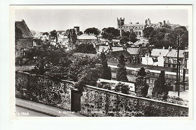 St Michael's Church & General View Linlithgow West Lothian Real Photograph White