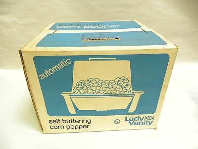 UNUSED Sealed Vtg Merit Enterprises Lady Vanity Electric Corn Popper Popcorn (A9