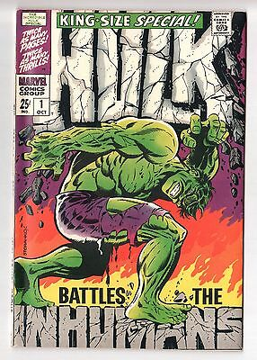 Incredible HULK King-Size Special #1 (Annual) Iconic Steranko Cover 1968 VF/NM