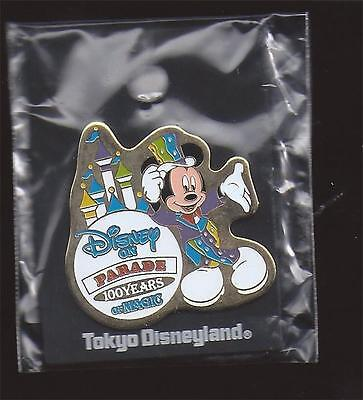 Disney Tdl Tokyo 100 Years Of Magic Disney On Parade Mickey Mouse Pin New