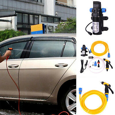 Portable 12V 80W Car Electric High Pressure Car Washing  Kit Washing Water Pump
