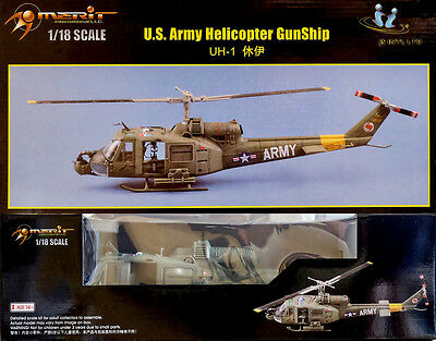 US Army Helicopter Bell UH-1 501st Aviation Battalion 1:18 Model Kit Merit 60029