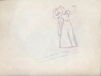 Snow White 1937 Production animation cel Drawing