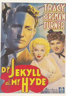 Dr Jekyll & Mr Hyde Ingrid Bergman Film French Cinema Poster Art Rare Postcard