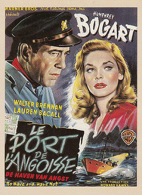 Le Port De L'Angoisse Humphrey Bogart Film French Cinema Poster Postcard