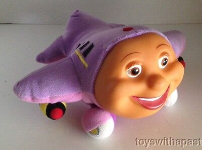 """TRACY Jay Jay Jet Plane 8"""" Vinyl Plush Airplane (Non-Electronic) 2000 Puppet Toy"""