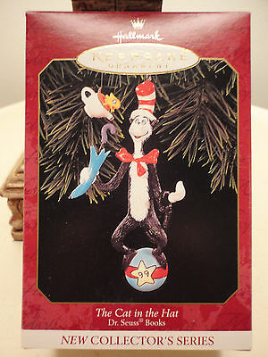 Hallmark 1999 Dr Seuss Cat in the Hat Christmas Xmas Tree Ornament QXI6457