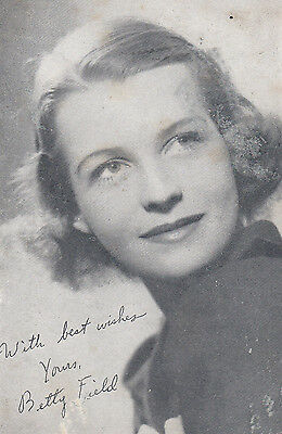Betty Field WW2 Printed Signed Vintage Photo