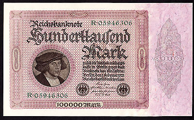 Germany 100,000 Mark 1923 P. 83a UNC Note
