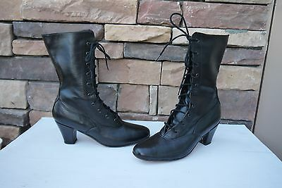 """Miguelito's Victorian GRANNY LACE UP  DANCING 8""""  BOOTS US 5"""
