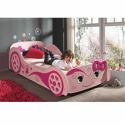 NEW Cute Racing Girl Car Bed - Kids & Children