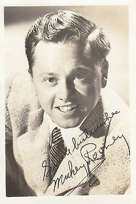 Mickey Rooney Antique Printed Signed Photo