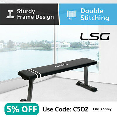 Flat Bench Strength Training Exercise Workout Home Gym