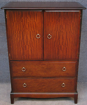 Stag Minstrel Mahogany Linen Cupboard / Tallboy / Cabinet On Chest