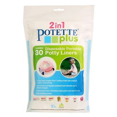 Kalencom Potette Plus Liners 30 count, Potty Seat Liners 2733-WHT New
