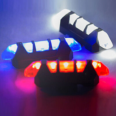 5 LED USB Rechargeable Bike Bicycle Cycling Tail Warning Light Rear Safety Lamp
