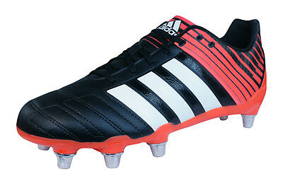 adidas Regulate Kakari SG Mens Rugby Boots - Black and Red
