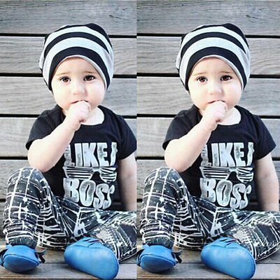 2pcs Toddler Kids Baby Boys T-shirt Tops+Long Pants Trousers Clothes Outfits Set