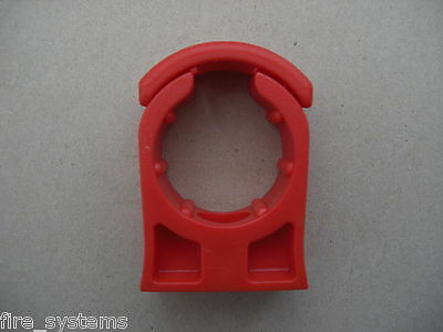 """10x Xtralis Vesda Red Pipe Clip 3/4"""" or 25mm £3,60"""
