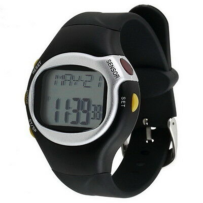 Pulse Heart Rate Monitor Wrist Watch Calories Counter Sports Fitness Exercise ZT