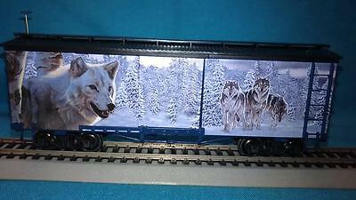 Hawthorne Village Silver Moon Express, Leader of the Pack Box Car w/Wolves