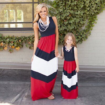 28a70a4576e11 MOTHER AND DAUGHTER dresses Evening Party matching mom girl dress Family  Clothes