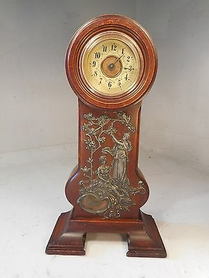 Antique Art Nouveau Miniature Grandfather  Clock ref 1915