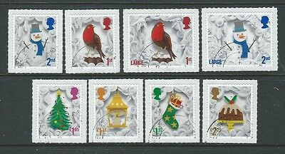 Great Britain 2016 Christmas Self Adhesive Set Of 8  Fine Used