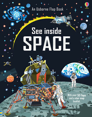 An Usborne flap book: See inside space by Katie Daynes (Hardback)