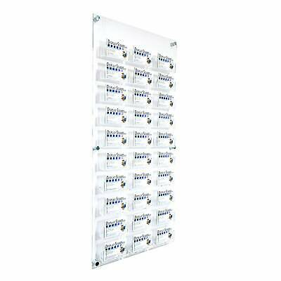 30 bay business card holder wall mount display stand shop dispenser 30 bay business card dispenser holder wall panel ds2530c reheart Gallery