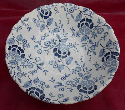 """J G Meakin Victoria Blue Floral Soup Bowl S Heirloom Staffordshire Ironstone 6"""""""