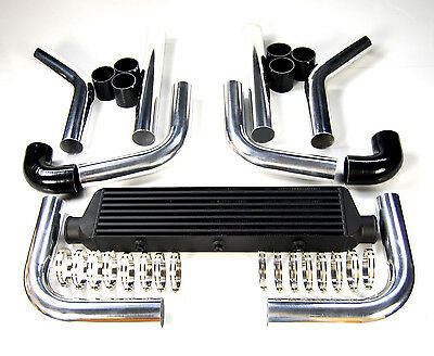 "2.5"" PIPING KIT via UNIVERSAL INTERCOOLER 550x140x65MM BLUE"